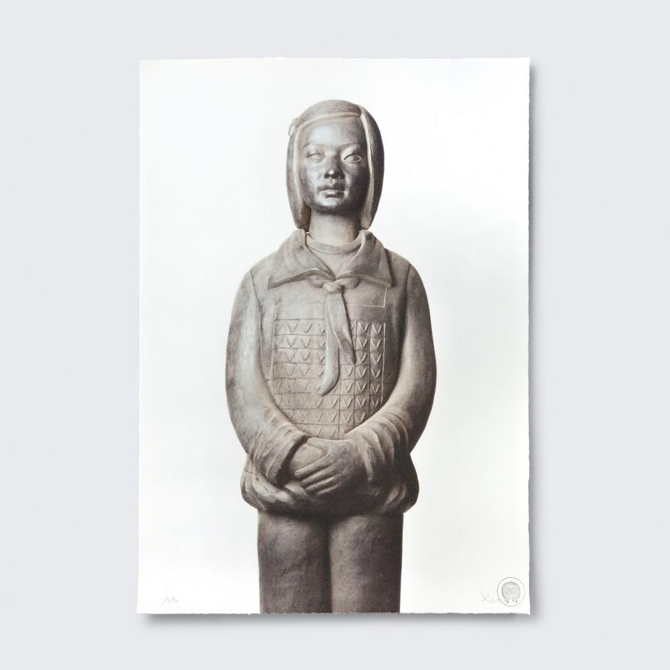 Terracotta Daughter 2,  Pan - Lithograph