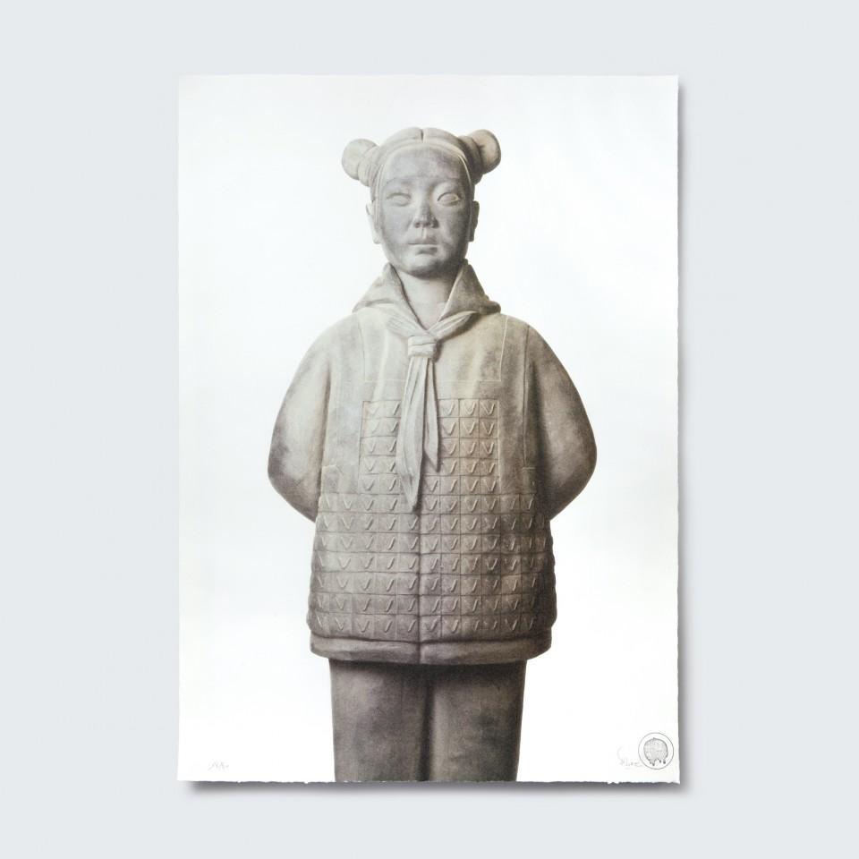 Terracotta Daughter 3,  Huiyun - Lithograph