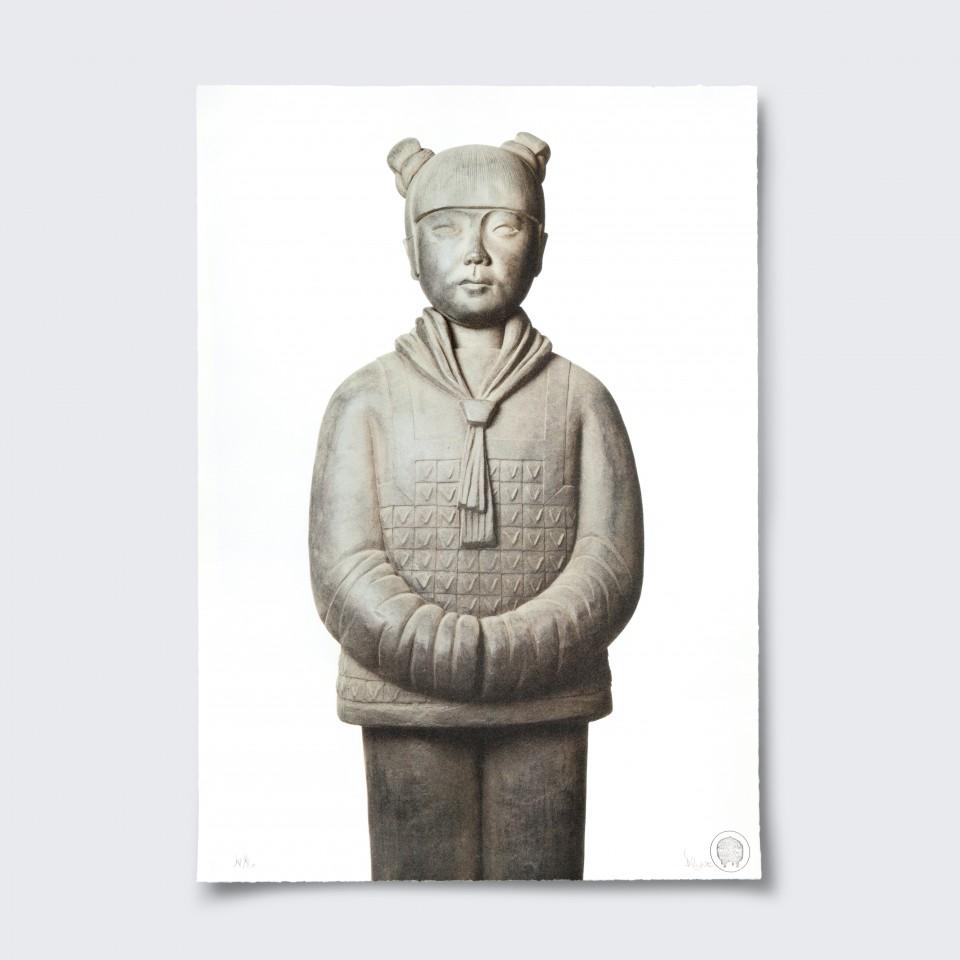 Terracotta Daughter 7,  lizhou - Lithograph